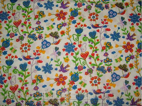 Japanese Flutter Col 2 Novelty Quilt Fabric