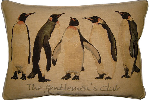 Gentlemen' Club Penguin Tapestry Oblong Cushion Cover
