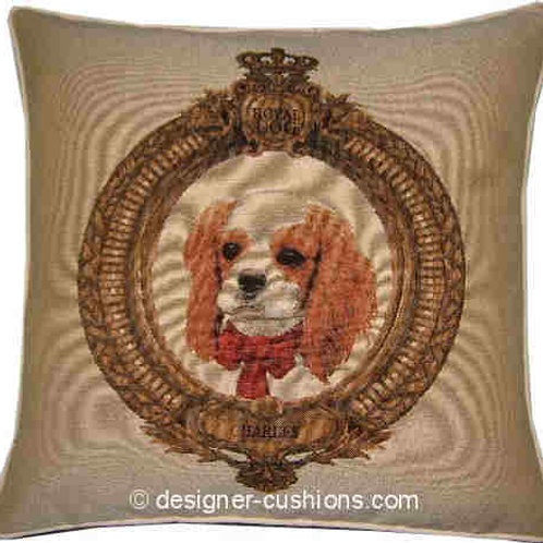 Royal King Charles Spaniel Tapestry Cushion Cover