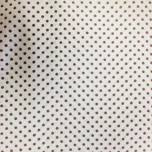 **SPECIAL** White with Brown Spots Quilt Fabric