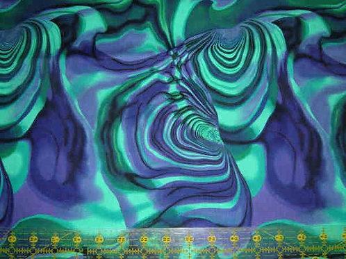 Nutex Kiwiana Kiwi Icons Tuku Tuku Blue Quilt Fabric
