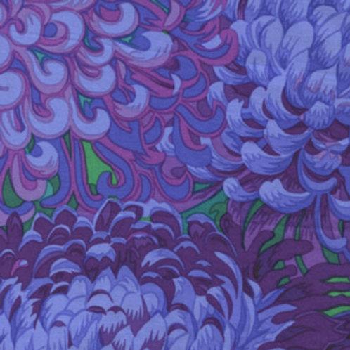 Kaffe Fassett Classics - Japanese Chrysanthemum Purple PWPJ041 PURPL Quilt Fabri