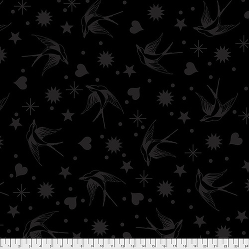 """Tula Pink """"Linework"""" Fairy Flakes PWTP157.INK Quilt Fabric"""