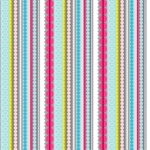 Nutex Novelty Meadow Stripe 89770 Col5 Quilt Fabric