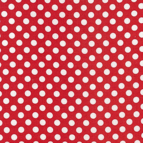 Nutex Poppies Red Spot 80060 Col 4 Quilt Fabric