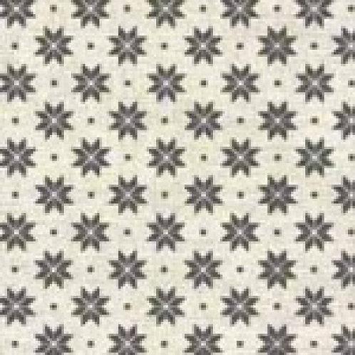 Makower Skandi 4 Grey & Cream Snowflakes Quilt Fabric