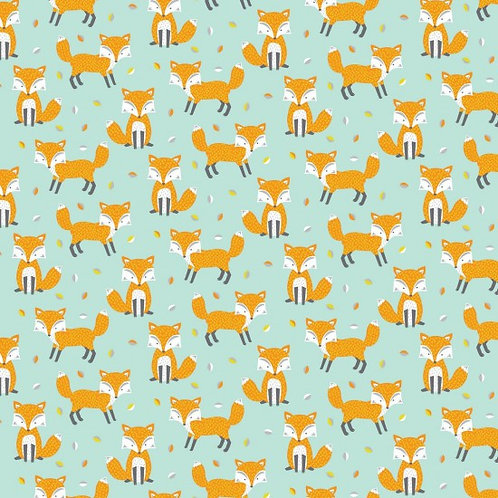 Nutex Novelty Woodland Friends Foxes 89840 Col3 Quilt Fabric