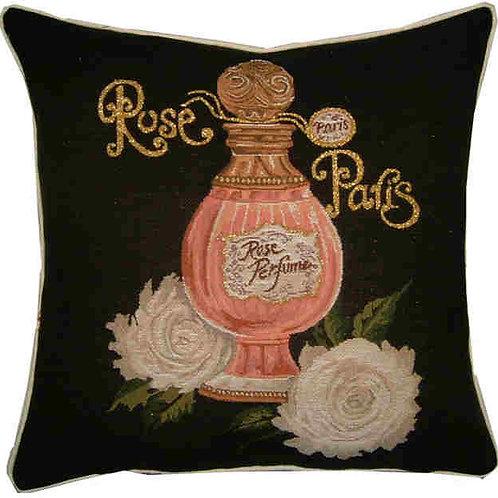 Allure Rose Paris Perfume Metallic Tapestry Cushion Cover