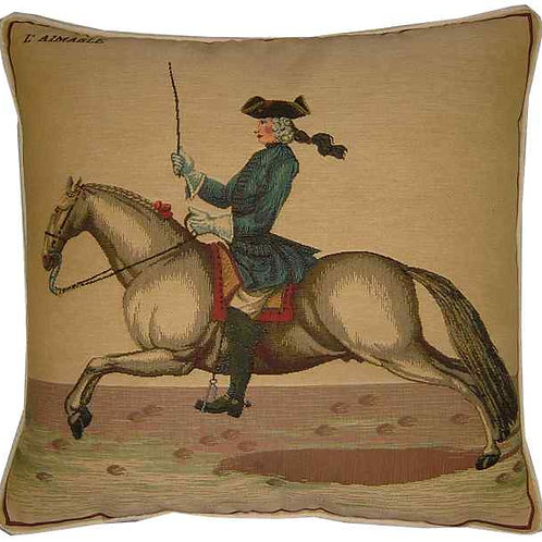 Cavalier Blue Tapestry Cushion Cover