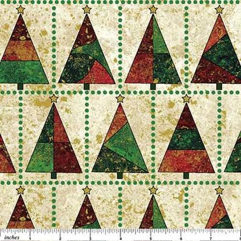 Northcott Stonehenge Christmas Trees 3969M Quilt Fabric