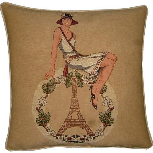 Paris Eiffel Tower Fashion Tapestry Cushion Cover