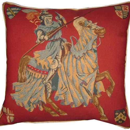 Knight & Horse Facing Right Tapestry Cushion Cover