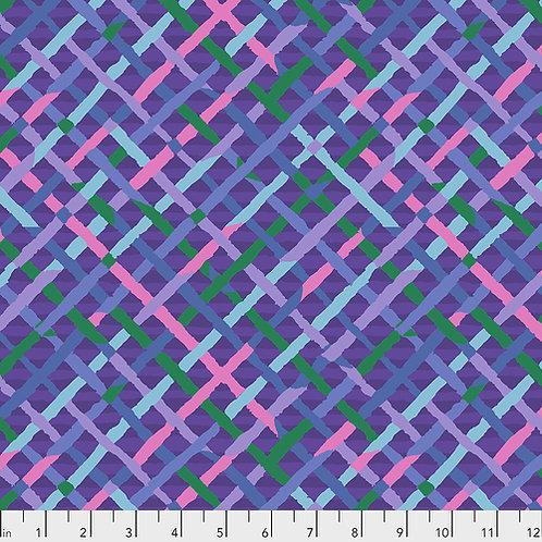 Kaffe Fassett Feb2020 - Mad Plaid PWBM037 PLUM Quilt Fabric