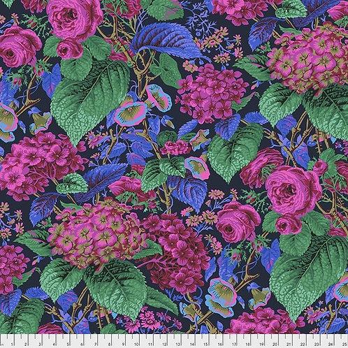 Kaffe Fassett Feb2020 - Rose & Hydrangea PWPJ097 NAVY Quilt Fabric