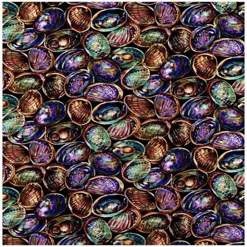 Nutex Kiwiana Paua Shells Quilt Fabric 5595