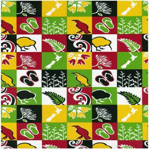Nutex Kiwiana Tahi Quilt Fabric