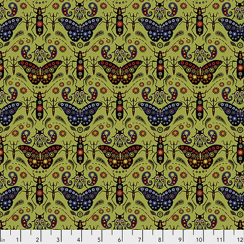 Odile Bailloeul Land Art Jewels PWOB020.VERT Quilt Fabric