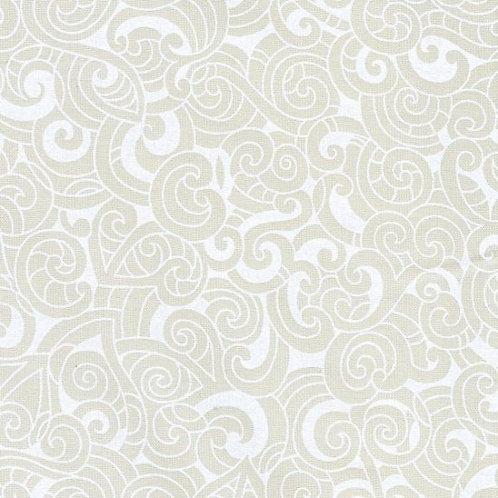 Nutex Kiwiana Moko Ivory Quilt Fabric 85200 Col7