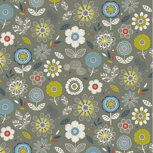 Nutex Novelty Enchanted Garden Flowers 89860 Col2 Quilt Fabric