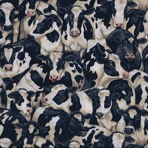 MakowerUK Village Life Cows 94000 Col8 Quilt Fabric