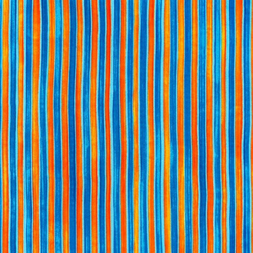 Robert Kaufman Synchronicity Stripe Tropical 18694-197 Quilt Fabric