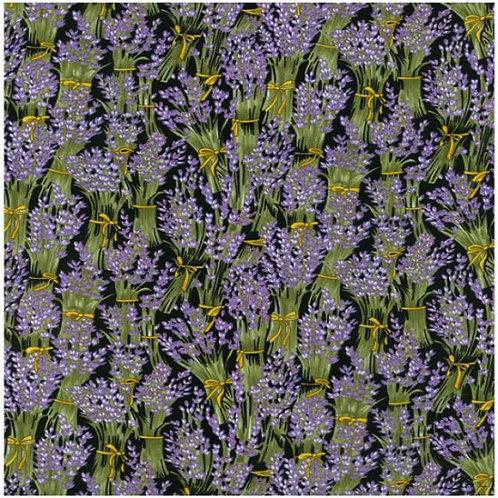 Nutex Kiwiana Lavender Flowers Quilt Fabric 85110