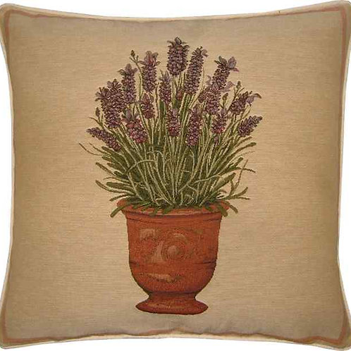 Lavender Pot Tapestry Cushion Cover
