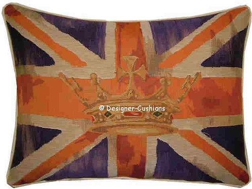 Union Jack Purple Design #2 Flag Tapestry Oblong Cushion Cover
