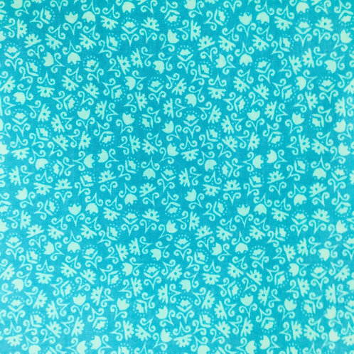 **SPECIAL** Mini Turquoise Floral Quilt Fabric