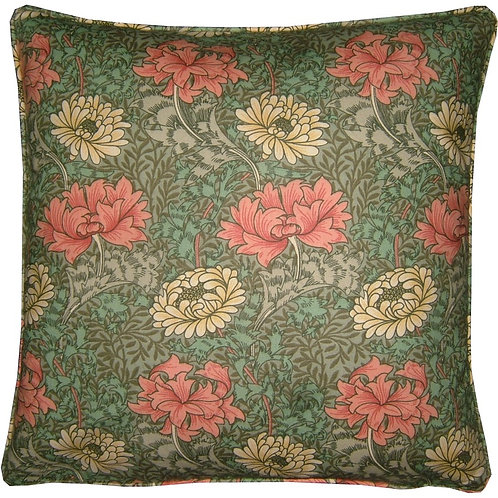 William Morris Chrysanthemum Minor Green Cushion Cover