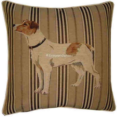 Jack Russell Standing Stripe Tapestry Cushion Cover