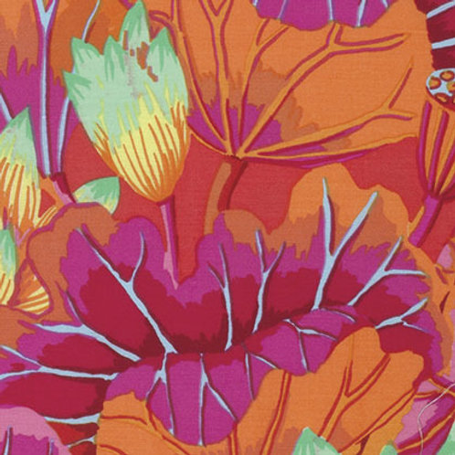 Kaffe Fassett Classics - Lake Blossoms Magenta PWGP093 MAGEN Quilt Fabric