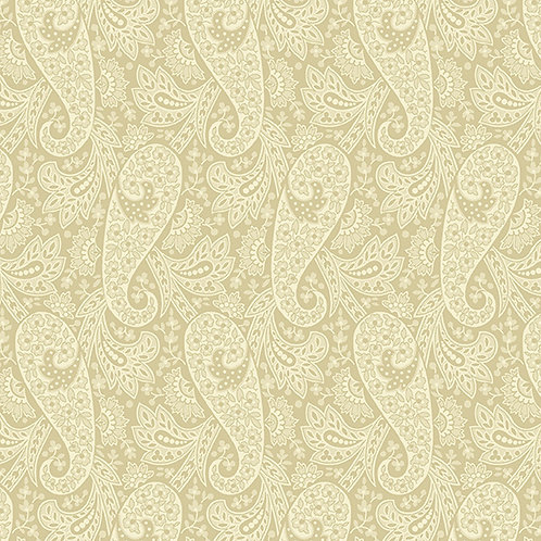 Andover 'Hat Box' Cream Paisley 93560 Col6 Quilt Fabric