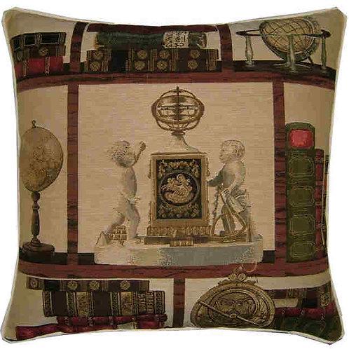 Library Books Nautical Theme Cherubs Tapestry Cushion Cover