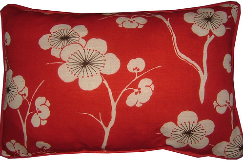 "Romo Chidori Red Oblong 40x25cm (16x10"") Cushion Cover"