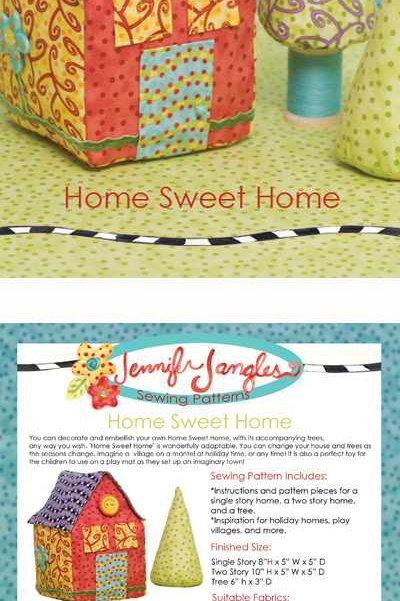 Jennifer Jangles Pattern 'Home Sweet Home'