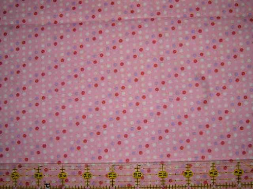 Nutex Novelty Swan Lake Pink Spots Novelty Quilt Fabric