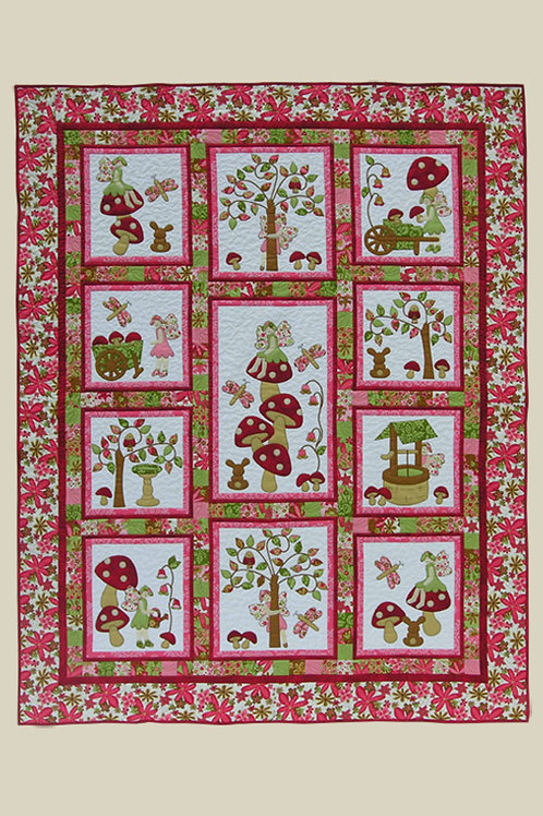 Kids Quilts 'Fairy Tales' (Red) Girls Single Quilt Pattern