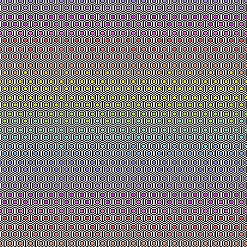 """Tula Pink """"Linework"""" Hexy Rainbow PWTP151.INK Quilt Fabric"""