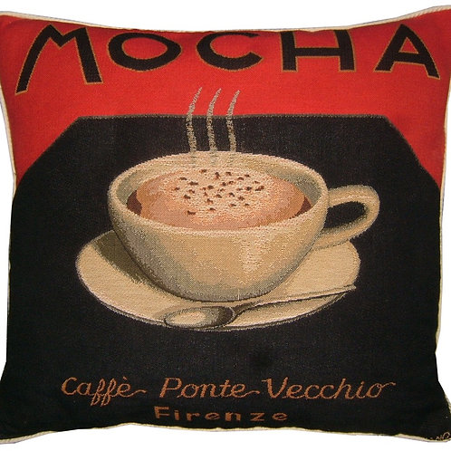Mocha Coffee Tapestry Cushion Cover
