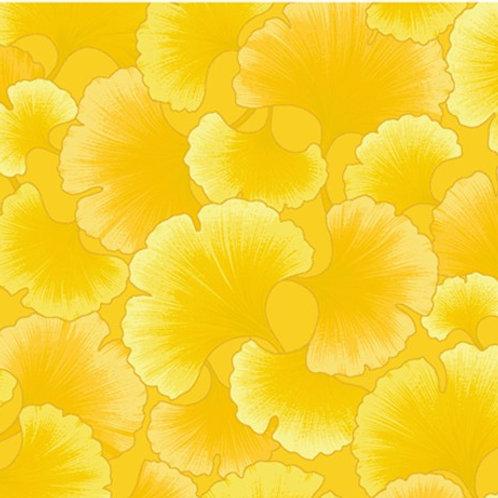 Kona Bay Ginkgo Tonals Yellow Quilt Patchwork Fabric