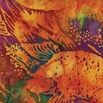 Island Batiks 121406153 Blue Bayou Koi Quilt Fabric