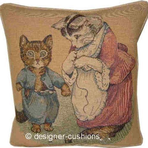 Beatrix Potter Tom Kitten Tapestry Cushion Cover