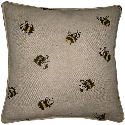 Bumblebees Linen Cushion Cover