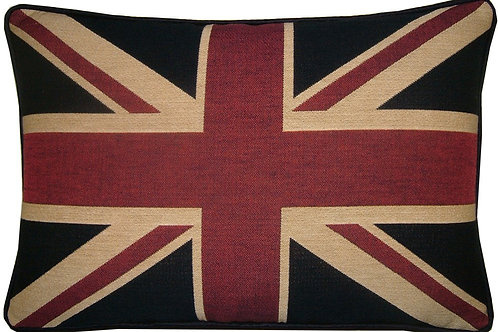 Traditional Union Jack Flag Tapestry Oblong Cushion Cover
