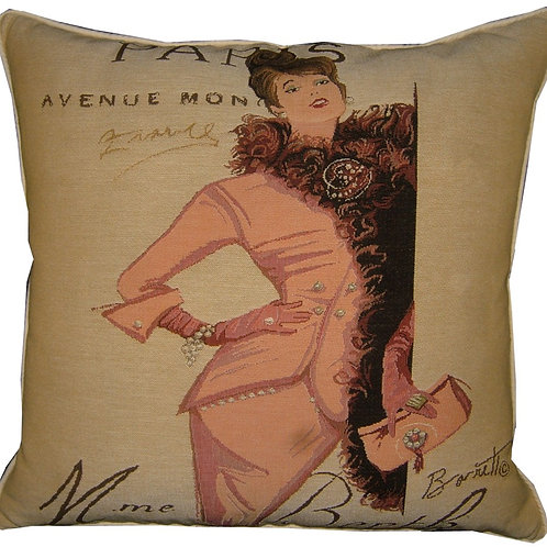 Paris Style Fashion Tapestry Cushion Cover