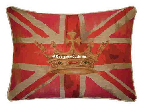 Union Jack Pink Design #2 Flag Tapestry Oblong Cushion Cover