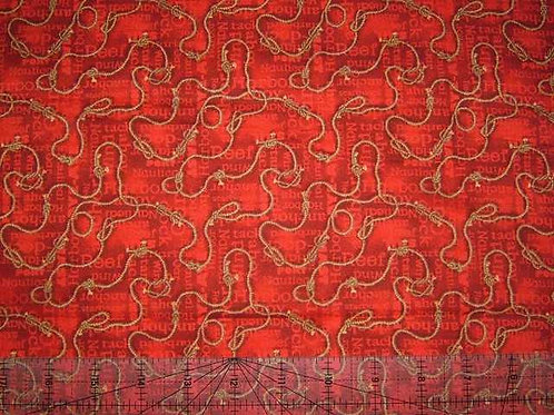 Wilmington Prints Gone Sailing Knots Red Quilt Fabric