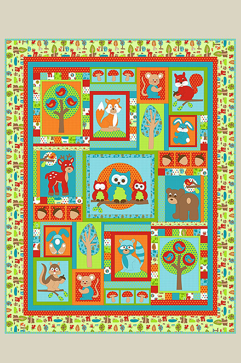 Kids Quilts 'Woodland Park' Single Quilt Pattern
