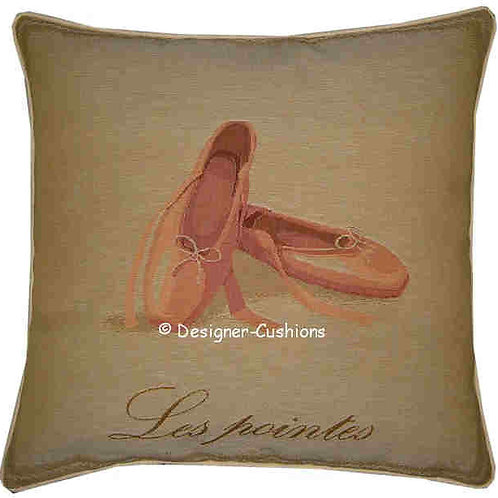 Ballet Shoes Pumps Tapestry Cushion Cover